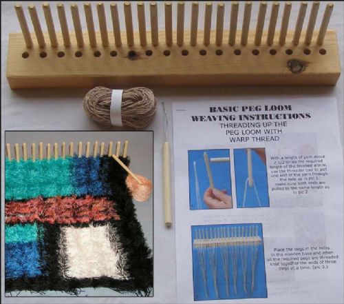 Peg Loom kits, books and guides